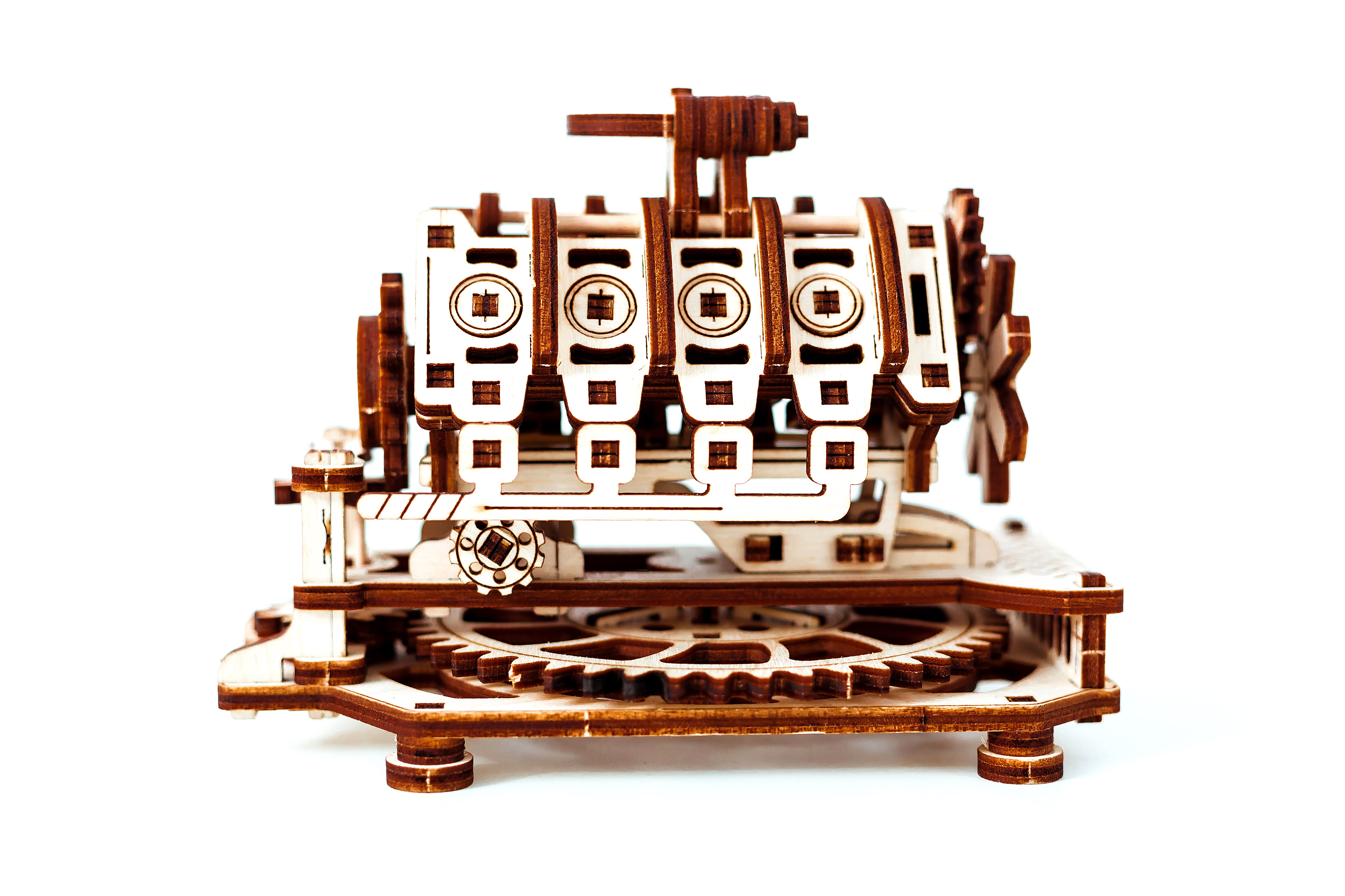Globe 3D Puzzle Mechanical Model Kit by Wooden City Laser Cut Wood