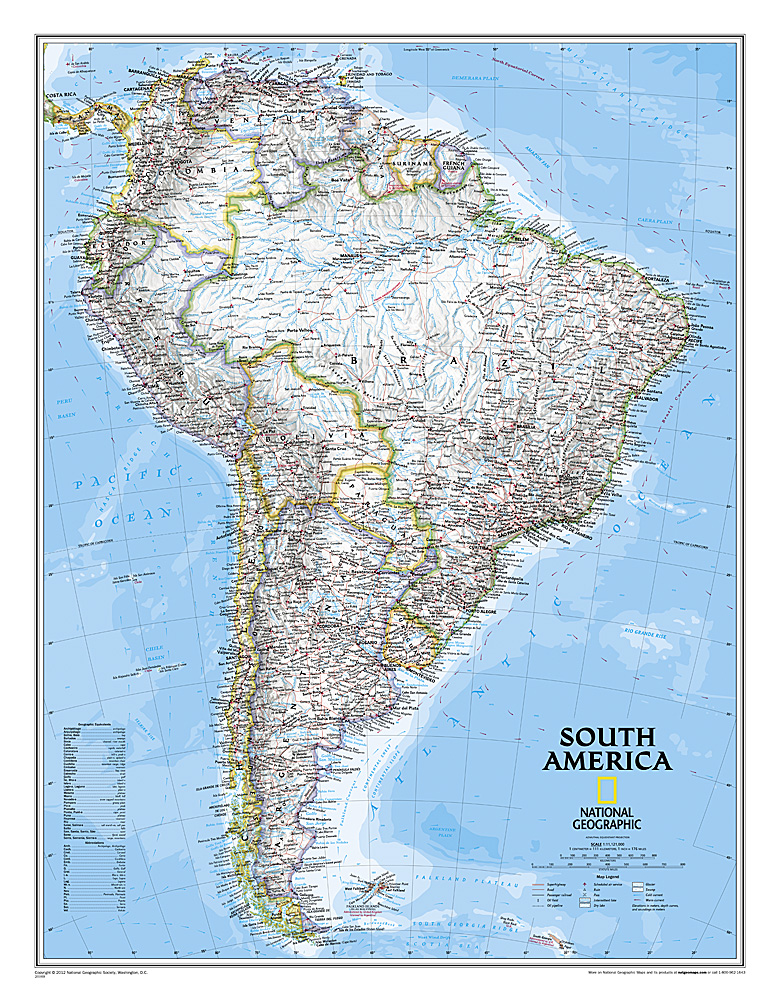 Craenen National Geographic Flat Maps - World decorator map