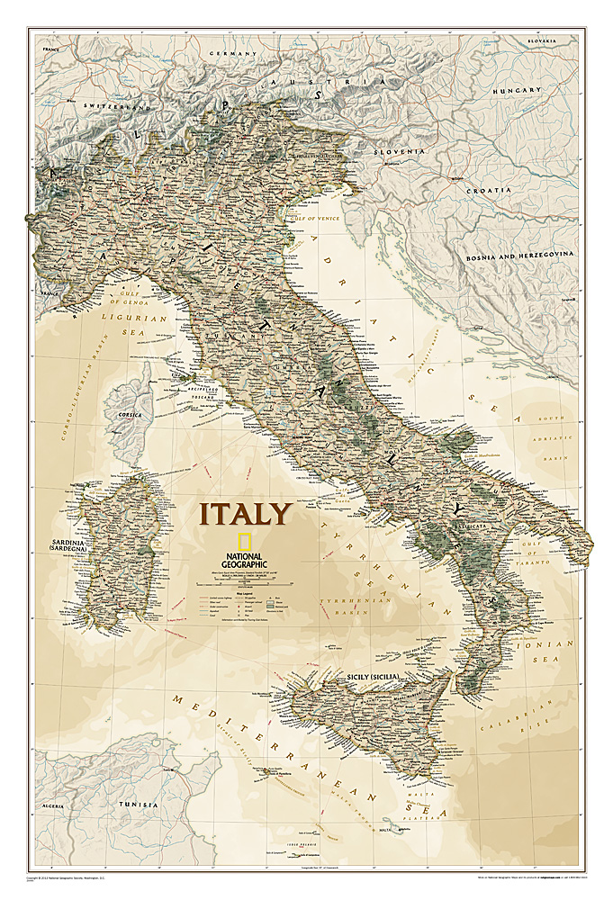 Craenen national geographic flat maps italy antique gumiabroncs Choice Image