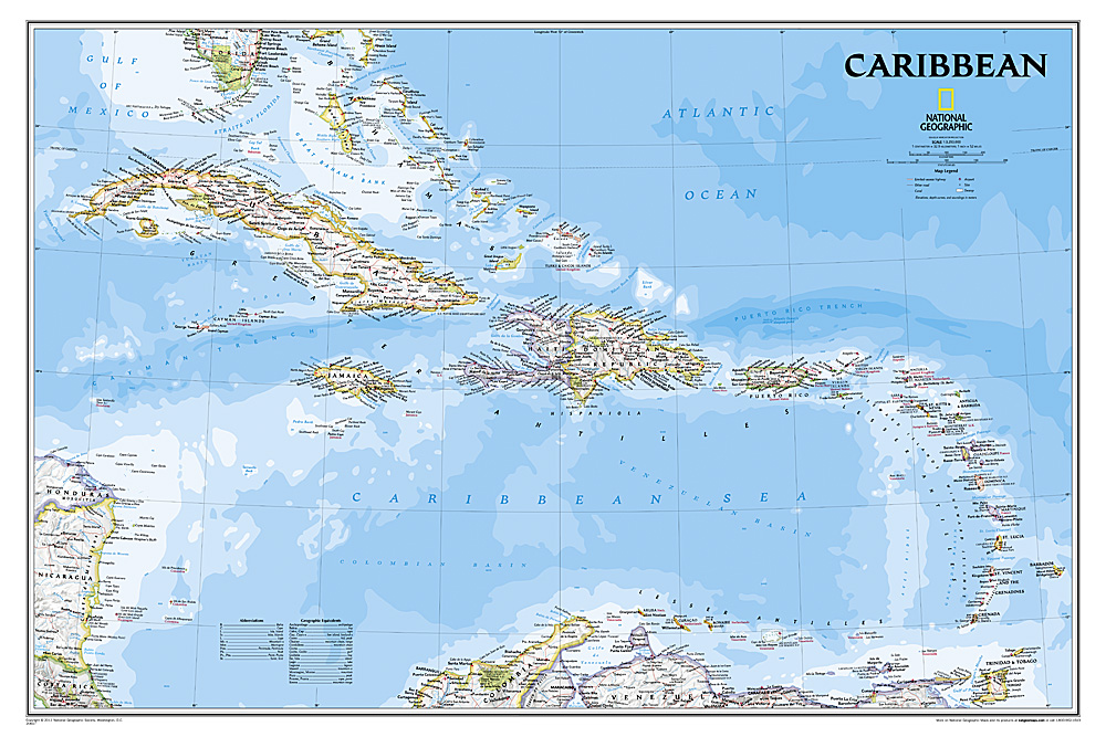 Craenen National Geographic Flat Maps - National geographic world maps for sale