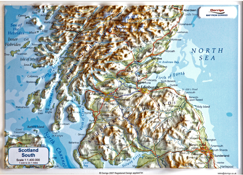 3d Relief Map Of Uk.Craenen Dorrigo