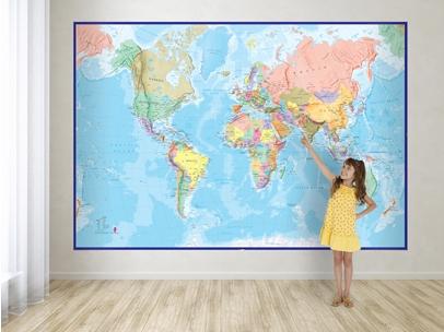 Craenen maps int specials world map mural blue ocean gumiabroncs Gallery