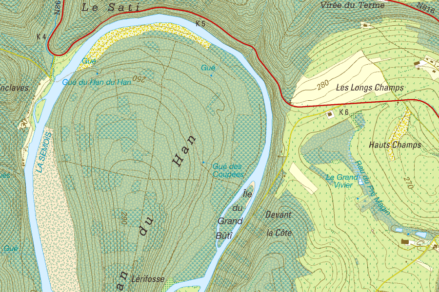 Craenen NGIB – Topographic Map of Belgium